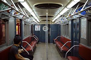 R15 (New York City Subway car) - Image: MTA NYC Subway ACF R15 6239 Interior