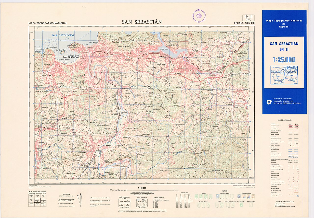 San Sebastian España Mapa.File Mtn25 0064c2 1980 San Sebastian Jpg Wikimedia Commons