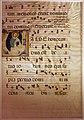 Maestro delle effigi domenicane, foglio di antifonario con iniziale V e san giovanni, 1340 ca. (castelfiorentino, museo di s. verdiana).jpg