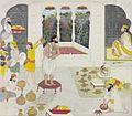 Maharaja Gulab Singh of Jammu taking his bath prior to worship.jpg