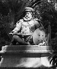 Statue of Maharaja Lakshmishwar Singh of Darbhanga