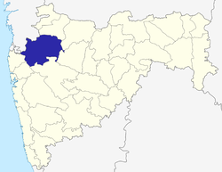 Location of Nashik district in Maharashtra