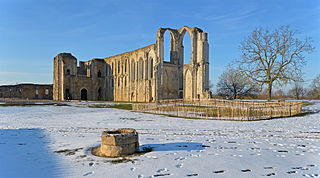 ruined Roman Catholic cathedral in Maillezais, Vendée, France