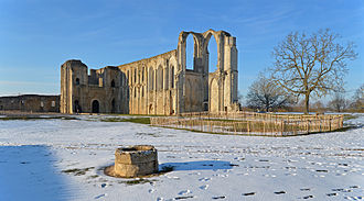 Maillezais Cathedral - Ruins at the site of the former Maillezais Abbey and Cathedral