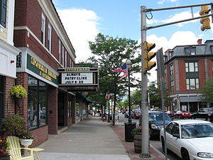 Stoneham, Massachusetts - Main Street at the Stoneham Theatre