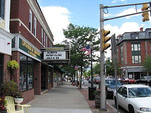 Stoneham, Massachusetts - Main Street at the Stoneham Theatre