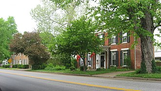 National Register of Historic Places listings in Carroll County, Kentucky - Image: Main Street in the Ghent HD