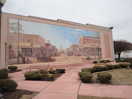 Mural in downtown Pine Bluff Main street, pine bluff, arkansas 002.jpg