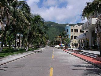 Xiachuan Island - Main street of Xiachuan Tourist Zone