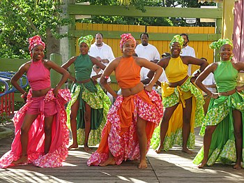 Afro Puerto Rican Women In Bomba Dance Wear