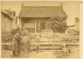 Man Leaning on Large Bell, from Huchui Temple Destroyed by Taiping Rebels (1850-62). China, 1875 WDL2089.png