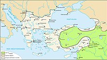 Carte de l'Empire en 1076