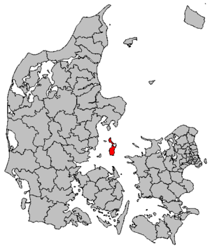 Samsø Municipality - Map of the future municipality