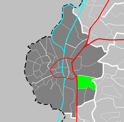 Location of Amby in Maastricht
