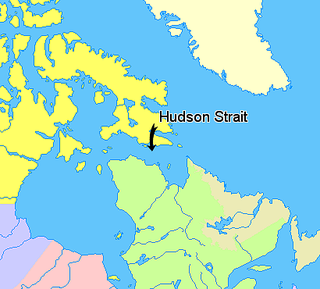 Hudson Strait Strait connecting the Atlantic Ocean to Hudson Bay in Canada