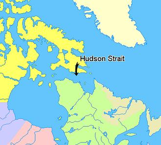 Hudson Strait - Image: Map indicating Hudson Strait, Nunavut, Canada