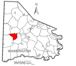 Location of Blaine Township in Washington County