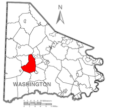 Location of Buffalo Township in Washington County