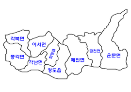 Map of Chengdo, Gyeongbuk (only ko).png