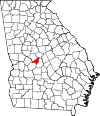 Map of Georgia highlighting Peach County.svg