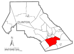 Map of Lamar Township, Clinton County, Pennsylvania Highlighted.png
