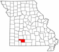 Map of Missouri highlighting Christian County.png