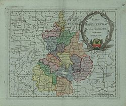 Map of Voronezh Namestnichestvo 1796 (small atlas).jpg
