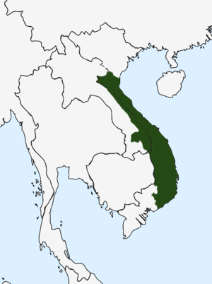 Jarai people - Map of the Kingdom of Champa (1380) during the reign of King Che Bunga. The Jarai is a modern descendant from Champa with other groups of the region.
