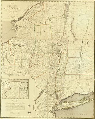 Simeon De Witt - 1802 Map of the State of New York