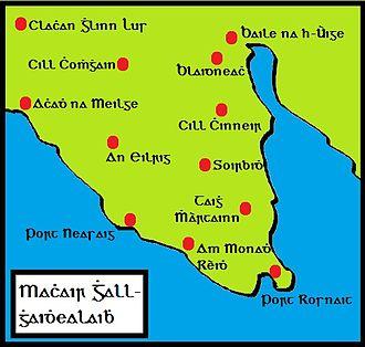 Machars - Image: Mapa na machrach