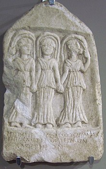 Marble votive tablet of the Three nymphs.jpg