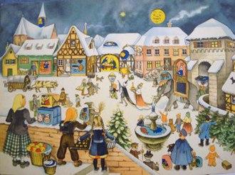 Advent calendar - Image: Marianne Schneegans Adventskalender
