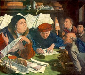 Marinus van Reymerswaele -  Marinus van Reymerswale - The Tax Collector -