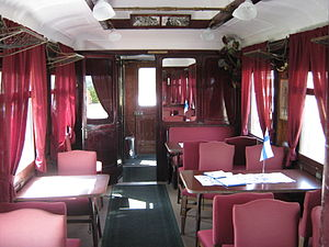 Hitler and Mannerheim recording - Interior of the saloon coach where the recording was made.