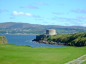 Lough Swilly - A Martello tower that sits on the banks of Lough Swilly.