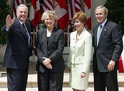 Paul and Sheila Martin with George and Laura Bush.