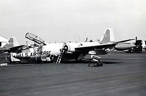 190th Air Refueling Wing - A 117th DSES EB-57B, in the 1970s.