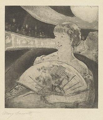 Gardner (Cassatt) Held by His Mother - Image: Mary Cassatt In the Opera Box (No. 3) NGA 1946.21.80