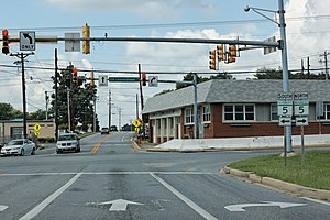 Business route - Image: Maryland Route 231 Westbound 7, Downtown Hughesville, Charles County, August 14th, 2009
