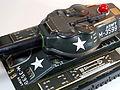 Masudaya Battery Powered Army Tank M-99 Tin Toy Close Up 1.jpg