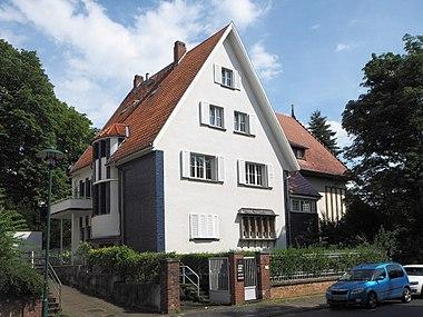 Blaue Häuser darmstädter künstlerkolonie