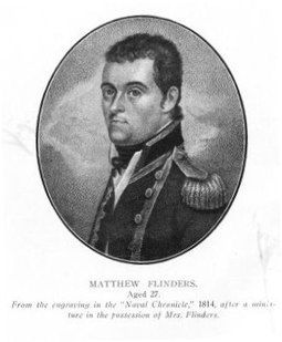 Matthew Flinders led the first successful circumnavigation of Australia in 1801-02. Flinders01.jpg