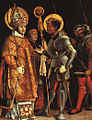 Matthias Grünewald, Saint Erasmus and Saint Maurice.jpg