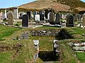Maughold churchyard, north keeill - geograph.org.uk - 777691.jpg