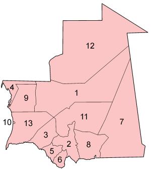 מחוזות מאוריטניה
