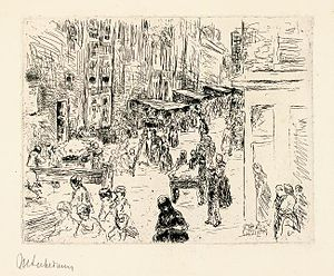Jodenbuurt - Image: Max Liebermann Amsterdam Judenstrasse