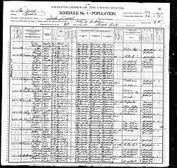 Max S. Freudenberg in the 1900 US census living in Hoboken, New Jersey.jpg