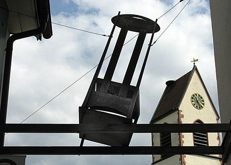 Charles Rennie Mackintosh, Argyle high-back side chair, Weil am Rhein, Germany.
