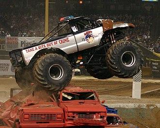 Monster Jam - McGruff the crime dog, one of the many Monster Trucks that compete in Monster Jam