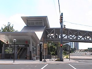 McLean station - Station Entrance on Opening Day, Saturday, July 26, 2014